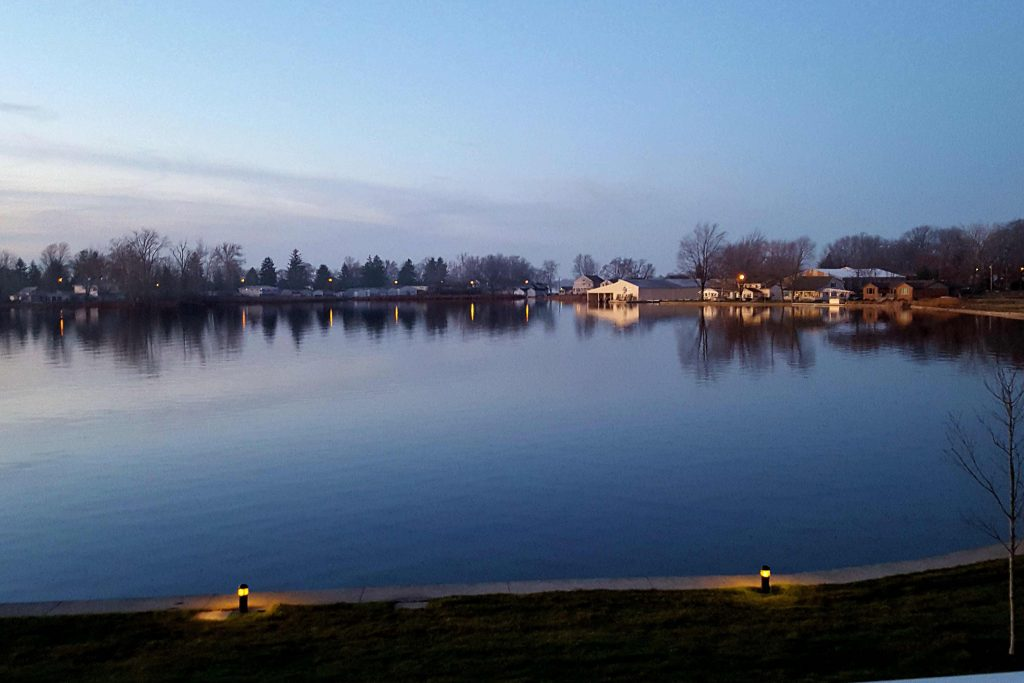 Wawasee Lake is beautiful in the evening.